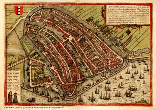 Mapa Amsterdamu z roku 1567