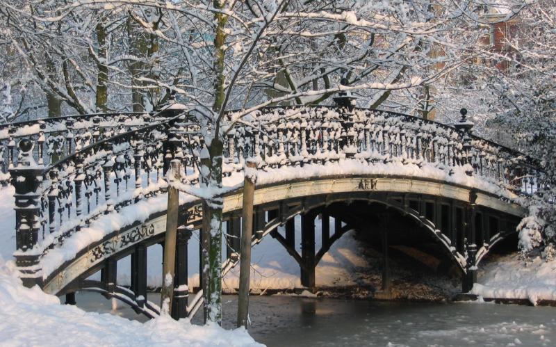 Kanál v zimě